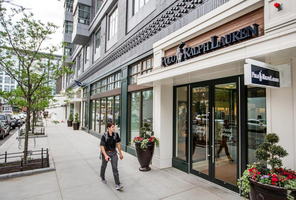 06/07/2018 SOMERVILLE, MA Polo Ralph Lauren store front at Assembly Row in Somerville. (Aram Boghosian for The Boston Globe)